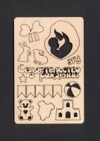 «Рождение» чипборд деревянный