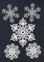 Чипборд «Большие снежинки»
