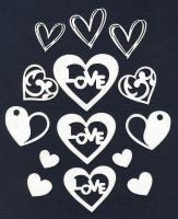 Чипборд «Сердечки с узорами»