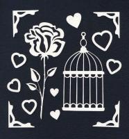 Чипборд «Клетка и роза»