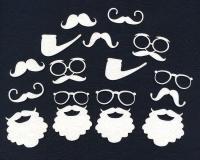 Чипборд «Усы, борода, очки»