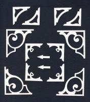 Чипборд «Уголки простые»