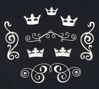 Чипборд «Короны и завитки»