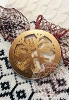 Чипборд шейкер «Снежинка» золотой