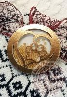 Чипборд шейкер «Лапа» золотой