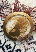 Чипборд шейкер «Фея» золотой