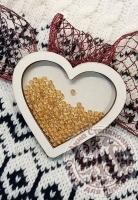 Чипборд шейкер «Сердце» простой