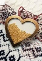 Чипборд шейкер «Сердце» золотой