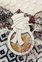 Чипборд шейкер «Снеговик» простой