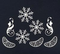 Чипборд «Снежинки и мандаринки»