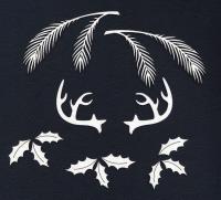 Чипборд «Еловые ветки и оленьи рога»