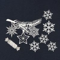 Чипборд «Новогодняя ветка»