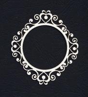 Чипборд «Рамка круглая. Вика»