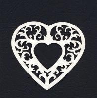Чипборд «Рамка ажурное сердце»