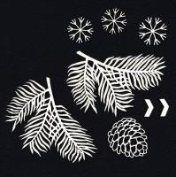 Чипборд «Сосновые веточки»