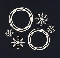 Чипборд «Веночки и снежинки»