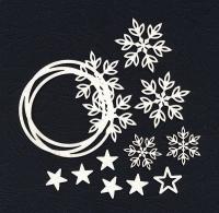 Чипборд «Венок со снежинками»