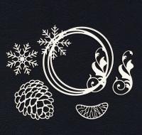 Чипборд «Зимний венок»