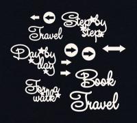 Чипборд «Путешествия. Надписи на английском»