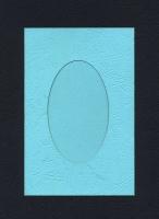Заготовка для открыток «С окном. Голубая» 1 шт.