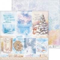 Бумага «Снежные сны» для скрапбукинга