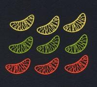 Набор «Цитрусовые дольки» из фетра