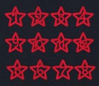 Набор «Цифры. Звезды» красные из фетра