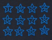 Набор «Цифры. Звезды» синие из фетра