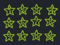 Набор «Цифры. Звезды» салатовые из фетра