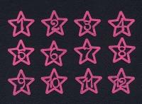Набор «Цифры. Звезды» розовые из фетра