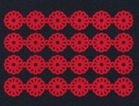 Набор «Кружево. Ромашки» красные из фетра