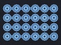 Набор «Кружево. Ромашки» голубые из фетра