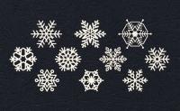 Набор «Снежинки белые» из фетра