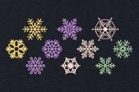Набор «Снежинки пастельные» из фетра
