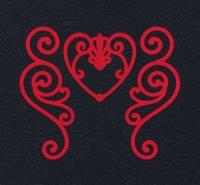 Набор «Завитки и сердце» красные из фетра