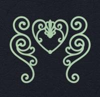 Набор «Завитки и сердце» салатовые из фетра