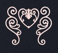 Набор «Завитки и сердце» розовые из фетра