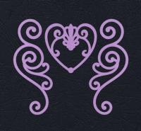 Набор «Завитки и сердце» сиреневые из фетра