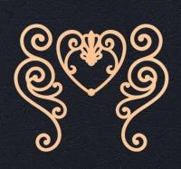 Набор «Завитки и сердце» персиковые из фетра