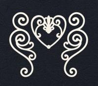 Набор «Завитки и сердце» белые из фетра