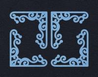 Набор «Уголки» голубые из фетра