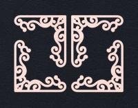 Набор «Уголки» розовые из фетра