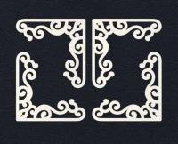 Набор «Уголки» белые из фетра