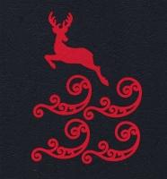 Набор «Олень и завитки» красные из фетра