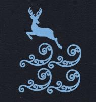 Набор «Олень и завитки» синие из фетра