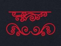 Набор «Узоры для открыток» красные из фетра