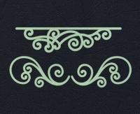 Набор «Узоры для открыток» салатовые из фетра