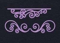 Набор «Узоры для открыток» сиреневые из фетра