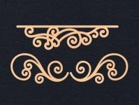 Набор «Узоры для открыток» персиковые из фетра