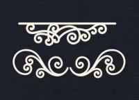 Набор «Узоры для открыток» белые из фетра